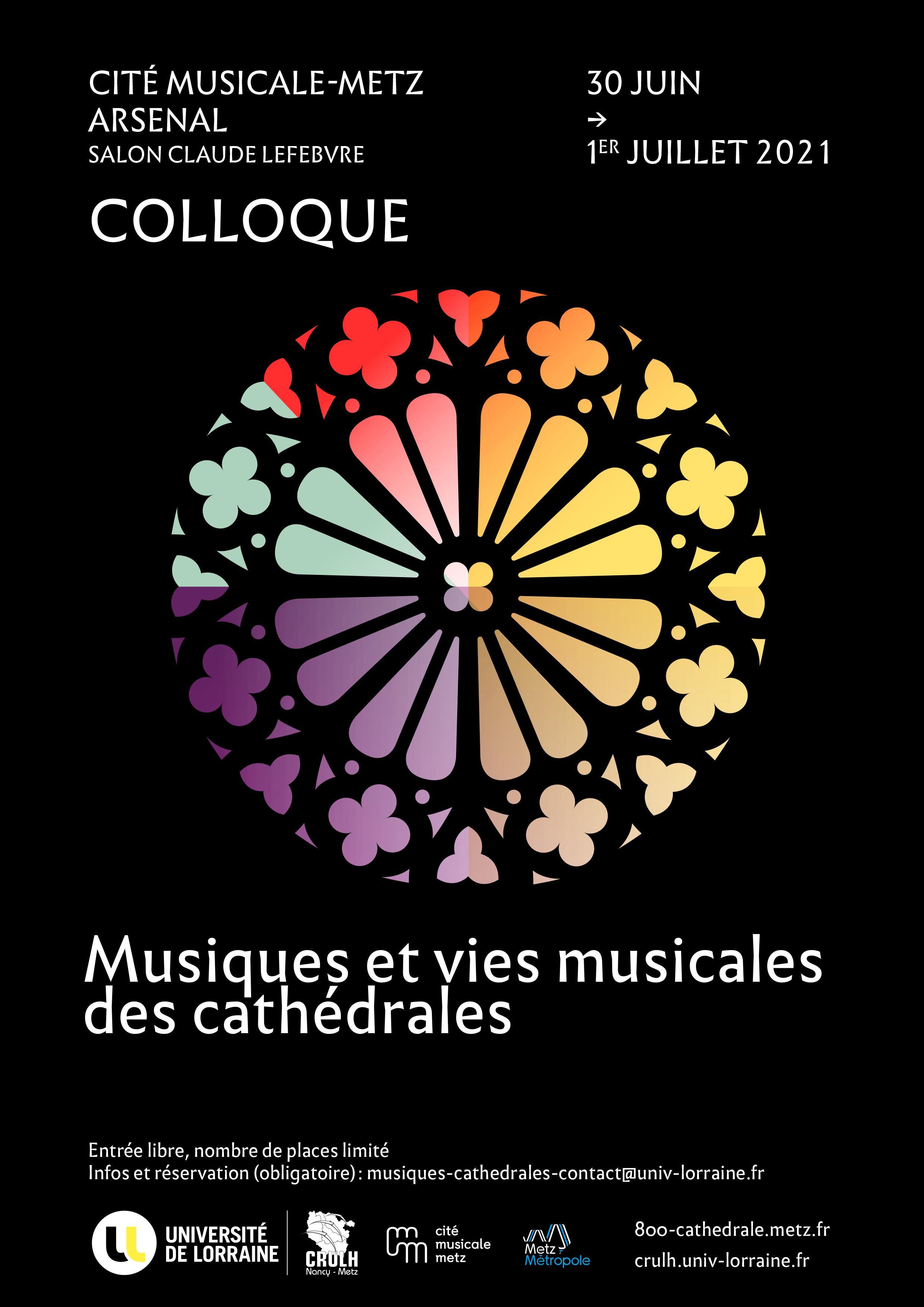 """Colloque """"Musiques et vies musicales des cathédrales"""""""