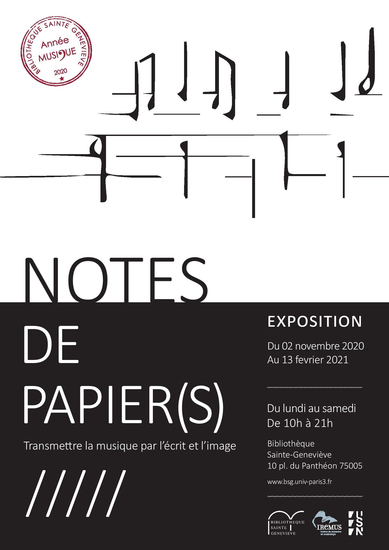 Notes de papier(s) - Transmettre la musique par l'écrit et l'image