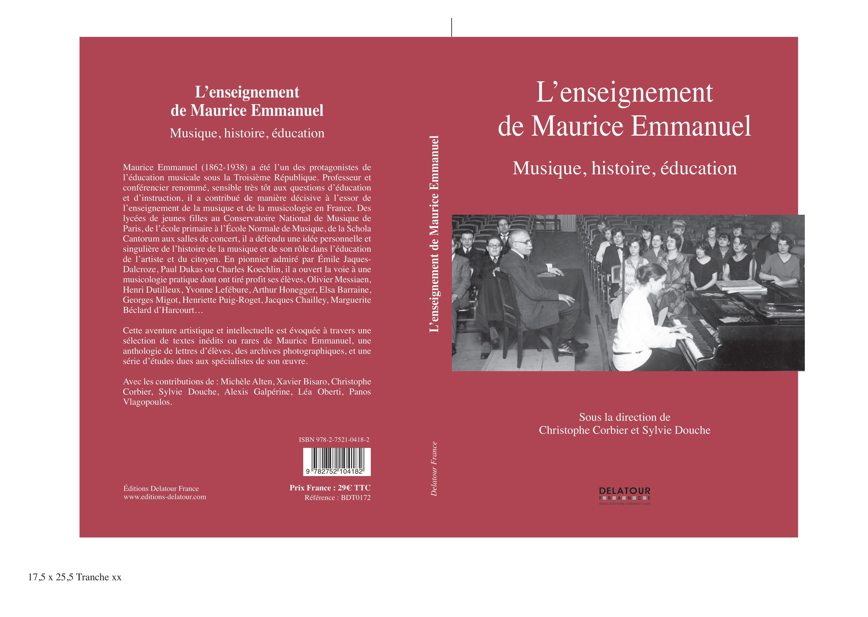 L'Enseignement de Maurice Emmanuel : musique, histoire, éducation}
