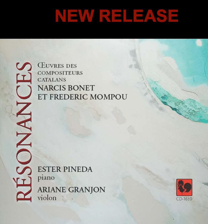 CD Résonances - Œuvres  de Narcis Bonet et Frederic Mompou}