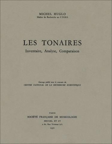 Michel  Huglo, Les Tonaires : inventaire, analyse, comparaison.