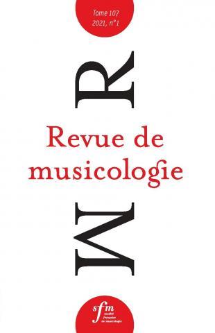 Revue de musicologie 107/1