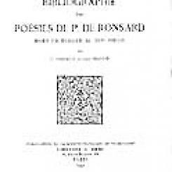 Geneviève  Thibault et Louis Perceau, Bibliographie des poésies de P. de  Ronsard mises en musique au XVIe siècle.